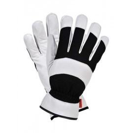 Rękawice ochronne, ocieplane wykonane ze skóry świńskiej licowej połączonej z tkaniną RMC-GEMINI