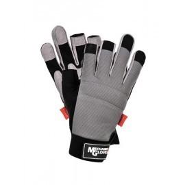 Rękawice ochronne wykonane ze skóry syntetycznej połączonej z tkaniną, bez końcówek na palcach RMC-PERSEUS