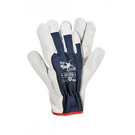 Rękawice ochronne wykonane z wysokiej jakości skóry bydlęcej RBTOPER