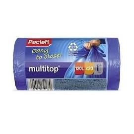 PACLAN Worki na śmieci multitop 120l / 20 szt