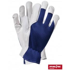 Rękawice ochronne wykonane z wysokiej jakości skóry koziej połączonej z tkaniną RLTOPER-MESH
