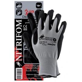 Rękawice ochronne wykonane z nylonu, powlekane spienianym nitrylem NITRIFOM