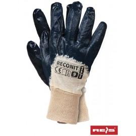 Rękawice ochronne powlekane nitrylem RECONIT-N
