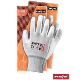 Rękawice ochronne wykonane z nylonu, powlekane poliuretanem RNYPO