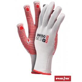 Rękawice ochronne wykonane z nylonu z jednostronnym nakropieniem PCV RNYDO