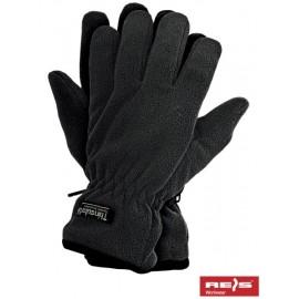 Rękawice ochronne wykonane z polaru, ocieplane wkładką Thinsulate RTHINSULPOL