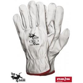 Rękawice ochronne wykonane z wysokiej jakości skóry z kozy RLCS+