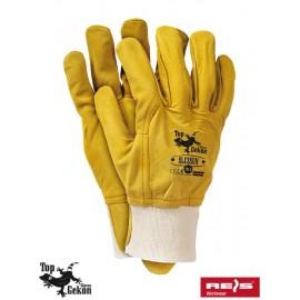 Rękawice ochronne wykonane ze skóry koziej licowej RLCSSUN