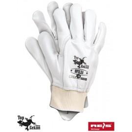 Rękawice ochronne wykonane z wysokiej jakości skóry bydlęcej RPULSA