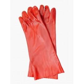 Rękawice ochronne wykonane z PCV, zakończone mankietem RPCV40