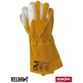 Rękawice spawalnicze wykonane ze skóry bydlęcej dwoinowej połączonej z kozią skórą licową YELLOWBEE