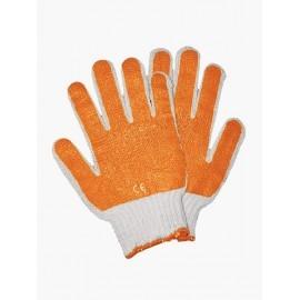 Rękawice ochronne wykonane z dzianiny, powlekane mieszanką latexu i PCV RR pomarańczowe
