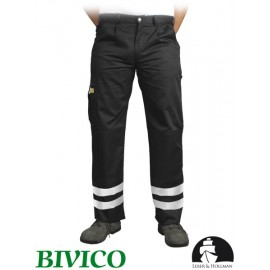 Spodnie ochronne do pasa 65% poliester, 35% bawełna VOBSTER z pasami odblaskowymi
