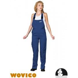 Spodnie ochronne damskie ogrodniczki 65% poliester, 35% bawełna WOMBISER
