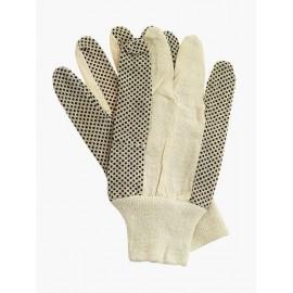 Rękawice ochronne wykonane z drelichu z nakropieniem PCV Rn - BIEDRONKI