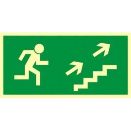 Kierunek do wyjścia drogi ewakuacyjnej schodami w górę 1