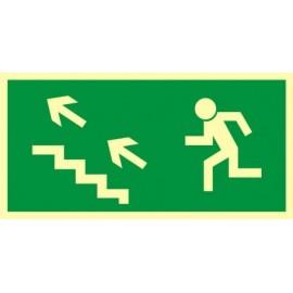 Kierunek do wyjścia drogi ewakuacyjnej schodami w górę 2