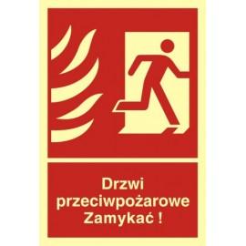 Drzwi przeciwpożarowe ZAMYKAĆ! 2
