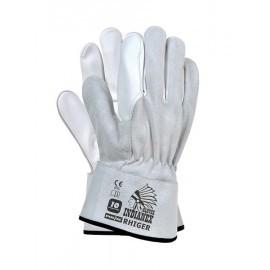 Rękawice ochronne w całości wykonane ze skórybydlęcej i koziej licowej RHIGER