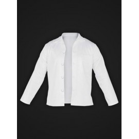 Bluza ochronna z długim rękawem, zapinana 65% poliester, 35% bawełna FOOD_JBU