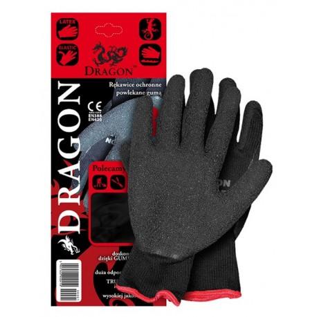 Rękawice ochronne wykonane z dzianiny powlekane gumą DRAGON