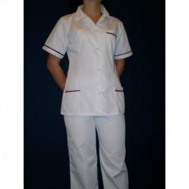 Ubranie medyczne z elanobawełny ze spodniami 2-45 kołnierz
