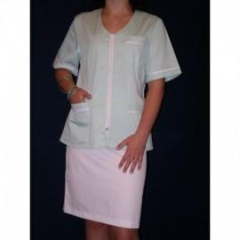 Ubranie medyczne z elanobawełny ze spódnicą 2-45 zamek