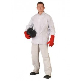 Spodnie skórzane SSL lico białe