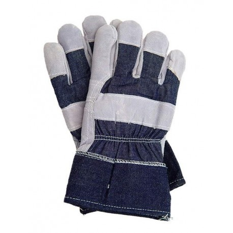 Rękawice ochronne wzmacniane skórą bydlęcą Rb