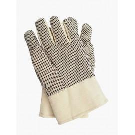 Rękawice ochronne, ocieplane wykonane z drelichu z nakropieniem RNo