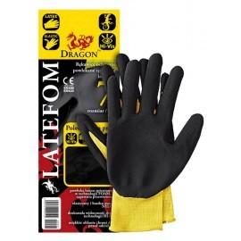 Rękawice ochronne z nylonu powlekane spienionym latexem LATEFOM