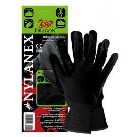 Rękawice ochronne z nylonu powlekane lateksem NYLANEX