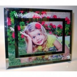 Foto ramka szklana z nadrukiem 23x18 cm