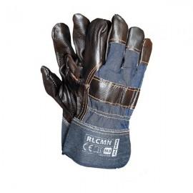 Rękawice ochronne wzmacniane skórą bydlęcą RLCMN