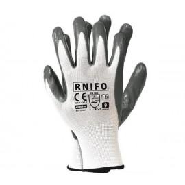Rękawice ochronne wykonane z nylonu, powlekane spienianym nitrylem RNIFO