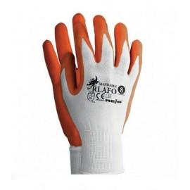 Rękawice ochronne wykonane z nylonu powlekane spienionym latexem RLAFO