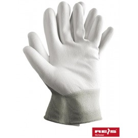 Rękawice ochronne wykonane z poliestru, powlekane poliuretanem RTEPO