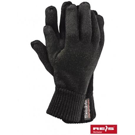 Rękawice ochronne wykonane z dzianiny, ocieplane wkładką Thinsulat RTHINSULOB