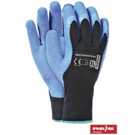 Rękawice ochronne ocieplane wykonane z przędzy akrylowej powlekane gumą RECOWINDRAG