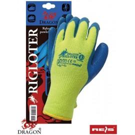 Rękawice ochronne ocieplane z tkaniny z pętelkowej przędzy akrylowej powlekane nitrylem RIGLOTER