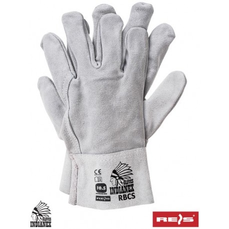 Rękawice ochronne wykonane w całości ze skóry bydlęcej RBCS