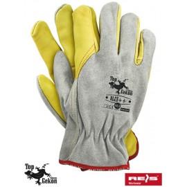Rękawice ochronne wykonane z wysokiej jakości skóry bydlęcej RLCS++