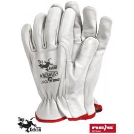 Rękawice ochronne wykonane z wysokiej jakości skóry bydlęcej RLCSWLUX