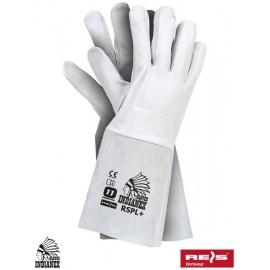 Rękawice ochronne w całości wykonane ze skóry bydlęcej i koziej RSPL+