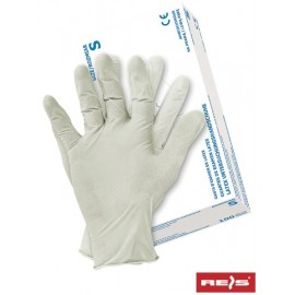 Rękawice ochronne lateksowe RALATEX(22) opak. 100 szt.