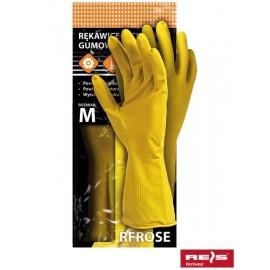 Rękawice ochronne gumowe flokowane RFROSE