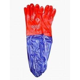 Rękawice ochronne wykonane z PCV, zakończone rękawem RPCV60