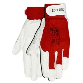 Rękawice monterskie wzmacniane miękką skórą kozią RS ECO TEC