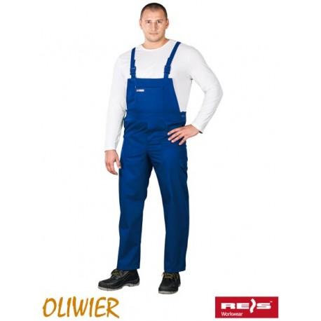 Spodnie ochronne ogrodniczki OLIWIER 65% poliester, 35% bawełna