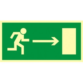 Kierunek do wyjścia drogi ewakuacyjnej 1